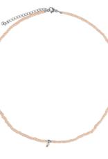 Zusss Zusss - ketting met kraaltjes zand/zilver