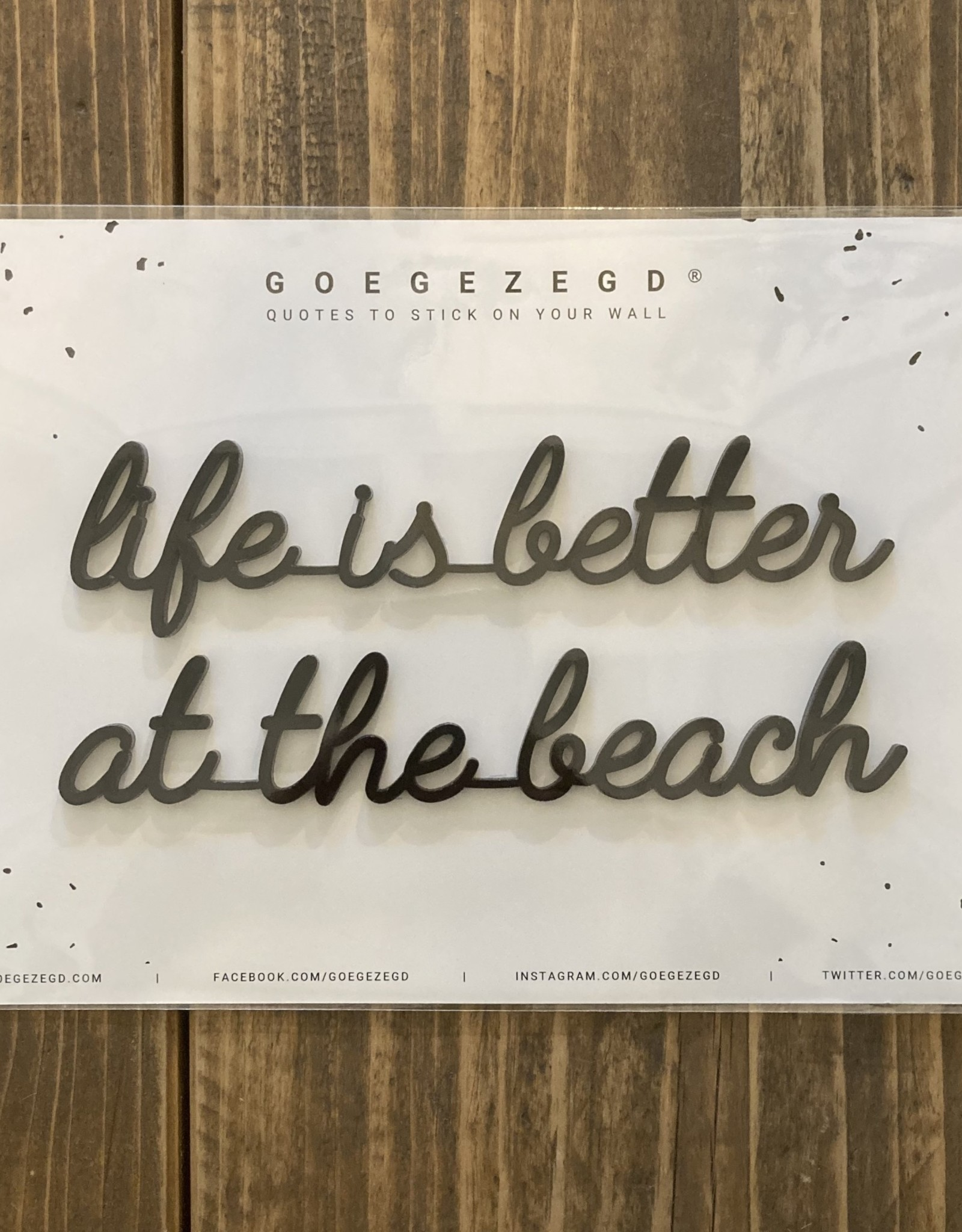 Goegezegd Goegezegd - Life is better at the beach