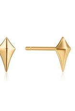 Ania Haie Ania Haie - Diamond shape stud earrings - gold