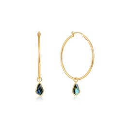 Ania Haie Ania Haie - Tidal abalone hoop earrings - gold