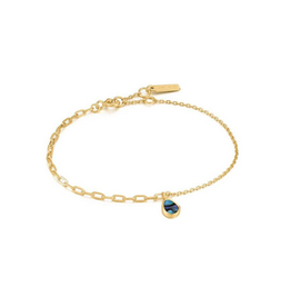Ania Haie Ania Haie - Tidal abalone mixed link bracelet - gold