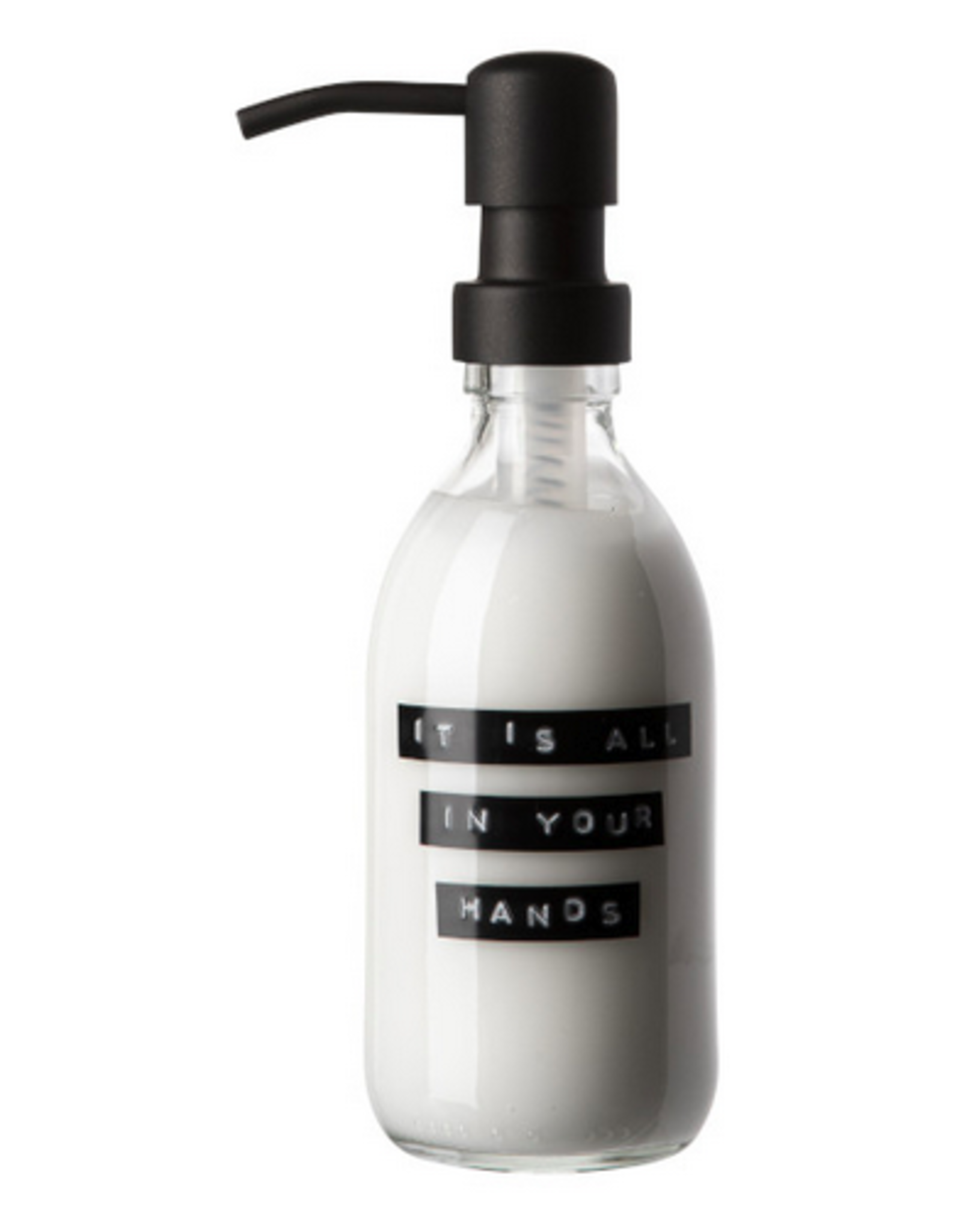 Wellmark Wellmark - Handcrème helder glas - zwart - 250ml - It is all in your hands