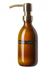 Wellmark Wellmark - Handcrème bruin glas - messing - 250ml - Hand lotion