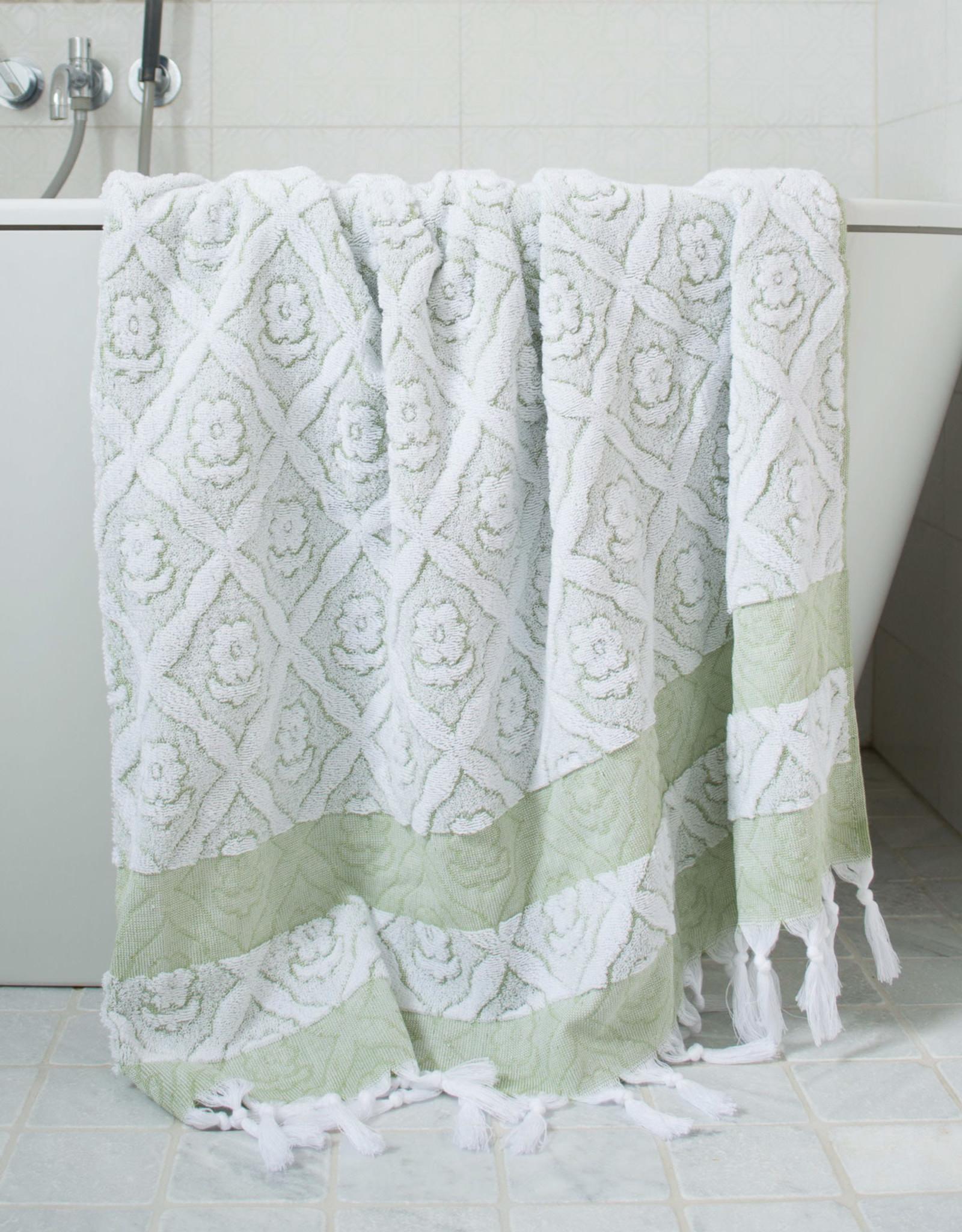 Ottomania Ottomania - Towel Green/white