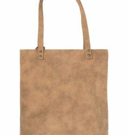 Zusss Zusss - Basic shopper met kwast kaki