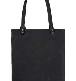 Zusss Zusss - Basic shopper met kwast mat zwart