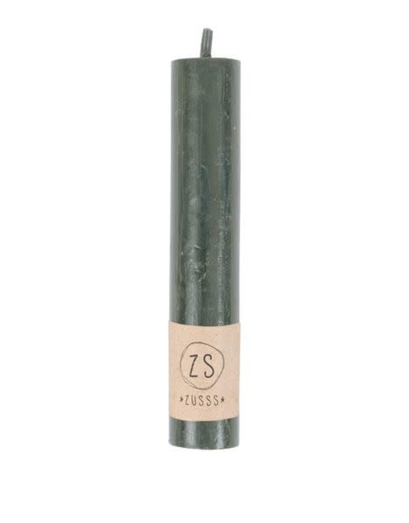 Zusss Zusss - Rustiek kaars 12 cm Groen