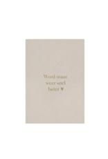 Zusss Zusss - Wenskaart - Snel beter - grijskarton