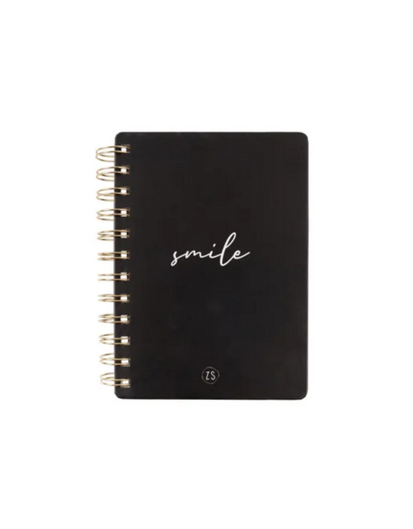 Zusss - Notitieboekje - Smile - zwart
