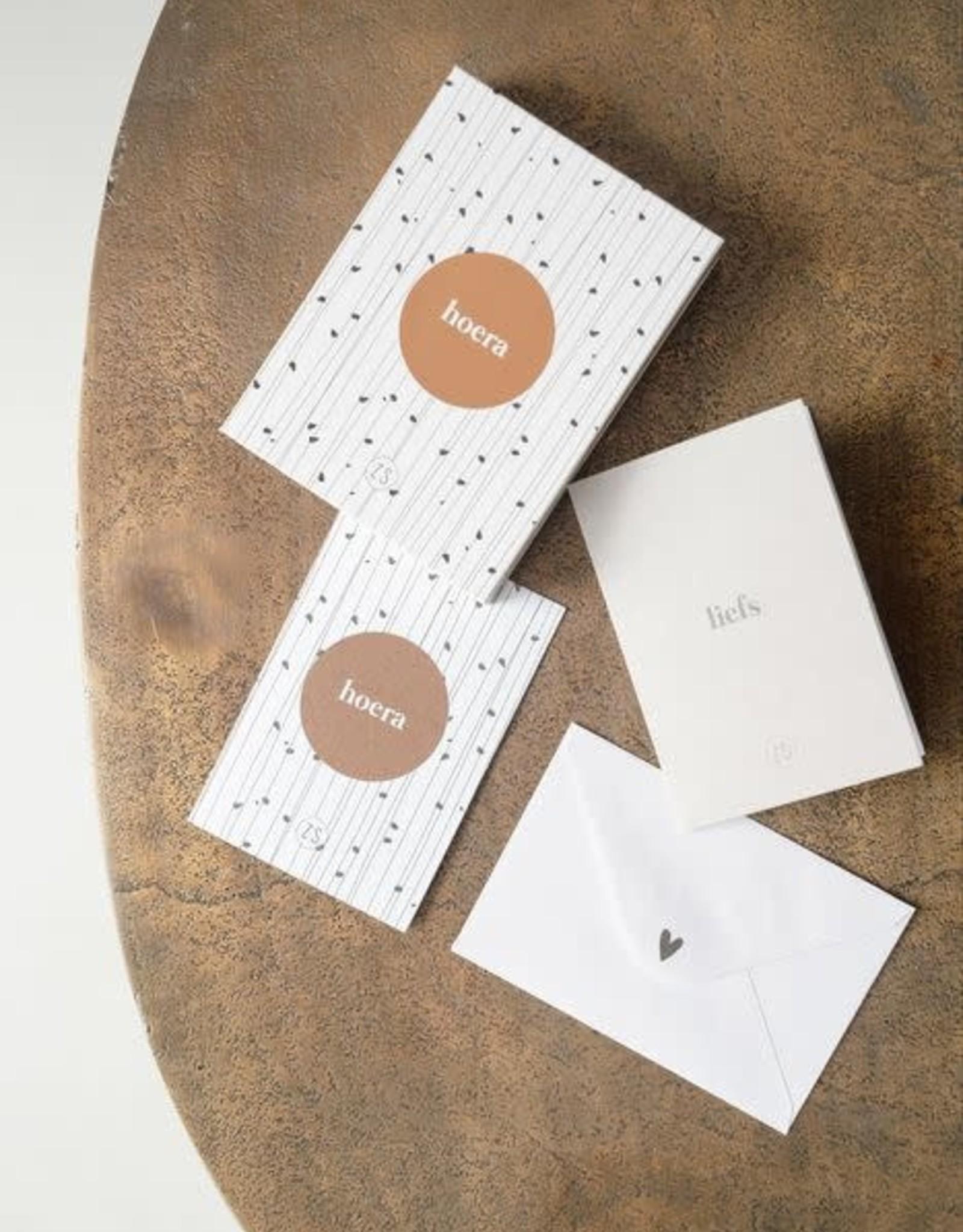Zusss Zusss - Box met 12 wenskaarten wit