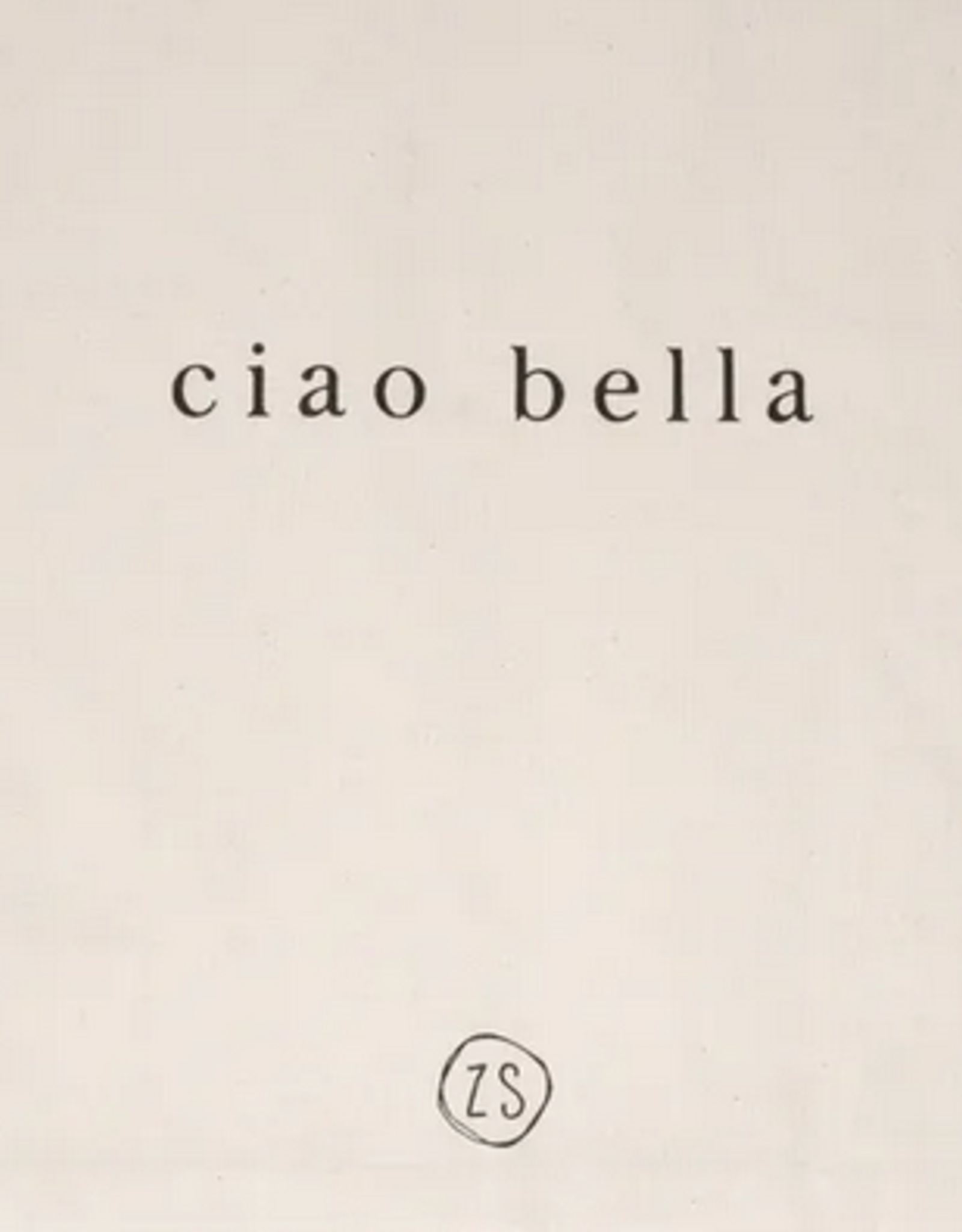 Zusss Zusss- katoenen tasje - Ciao bella - naturel