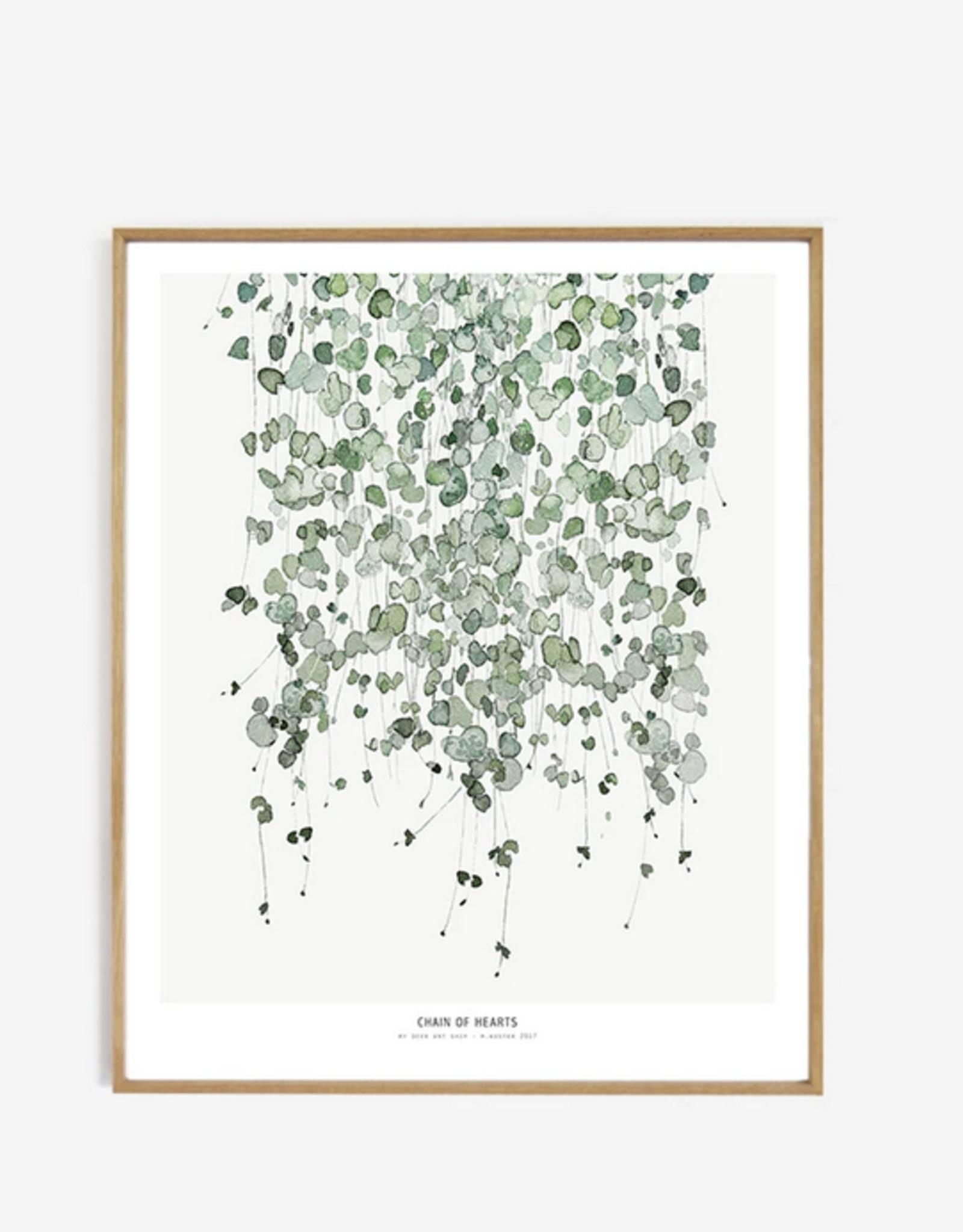 My deer art shop My deer art - Chain of hearts - 50x70