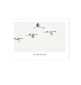 My deer art shop My deer art - mini prints - Cranes are flying - A5