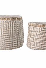 Bloomingville Bloomingville - Lindi Basket - White - Seagrass - Medium