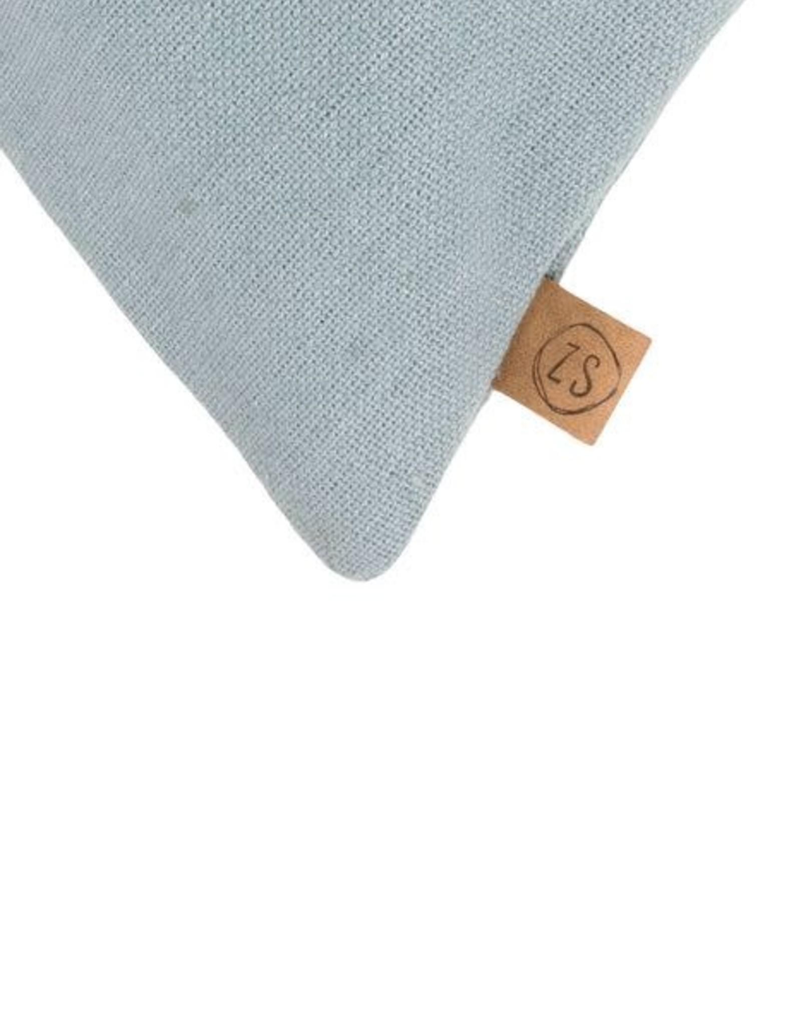 Zusss Zusss - Kussen takje 45x45 cm grijs-blauw