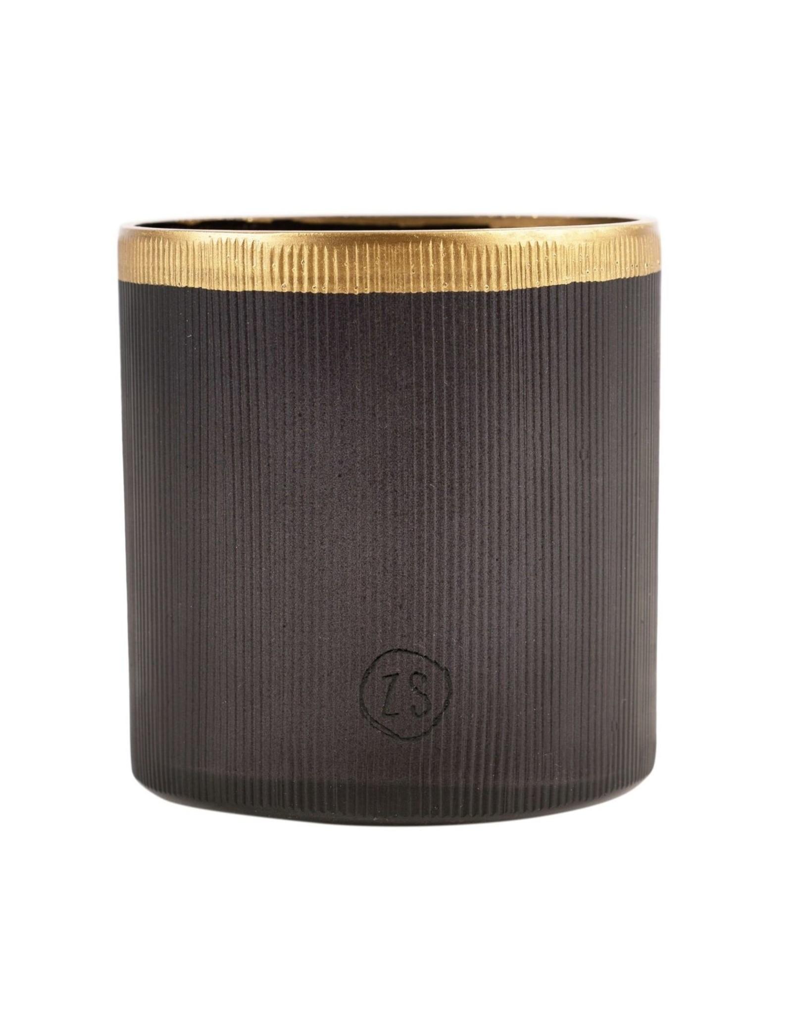 Zusss Zusss - Waxinelichthouder glas zwart