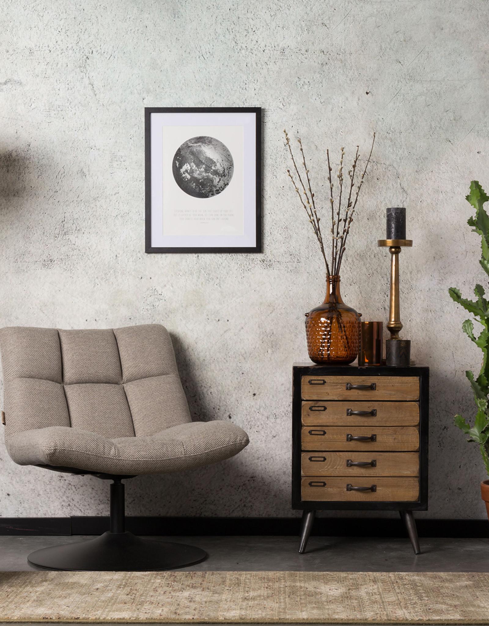 Zuiver Dutchbone - Lounge chair bar - grey fabric