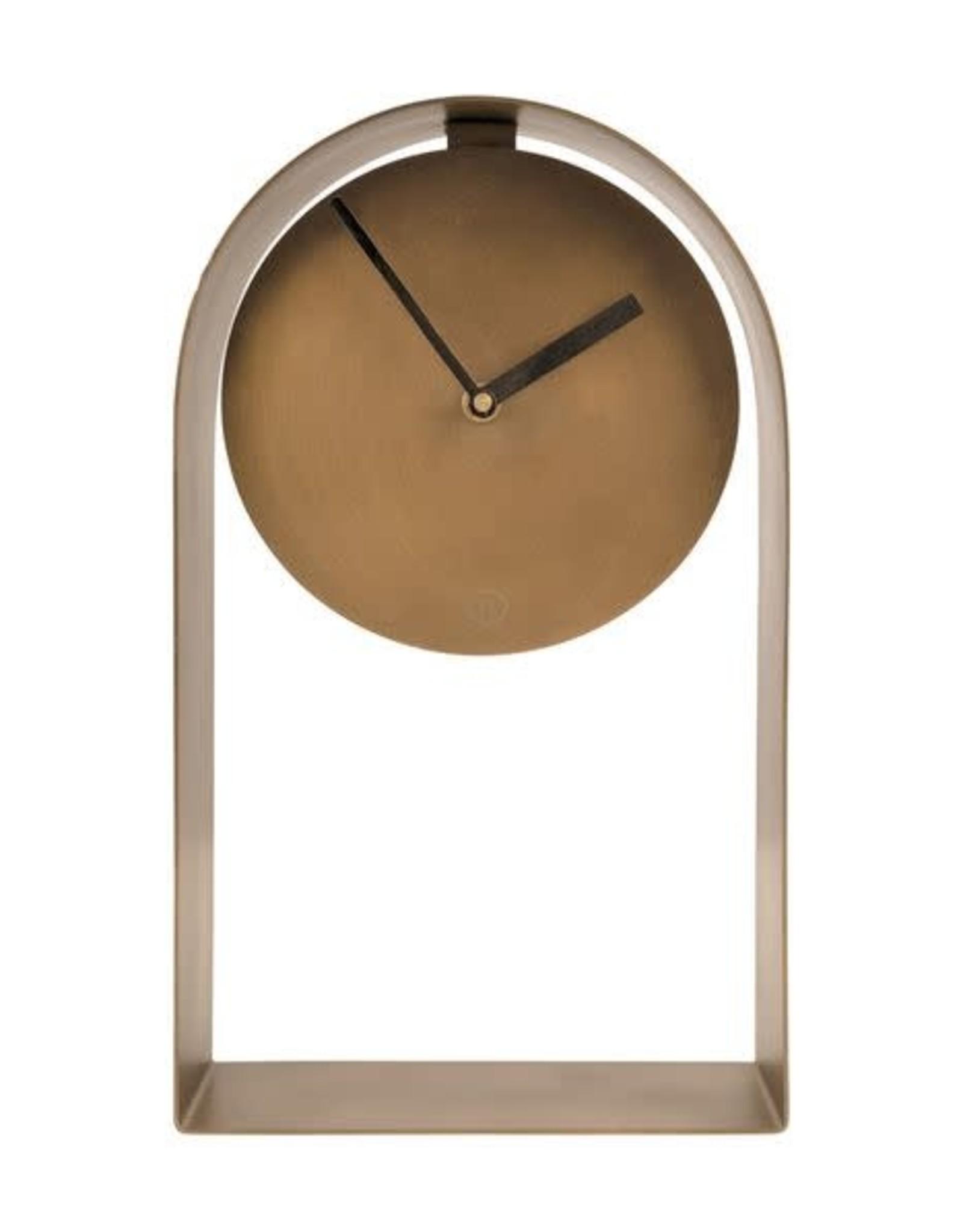 Zusss Zusss - Tafelklok 30x17x5cm brons