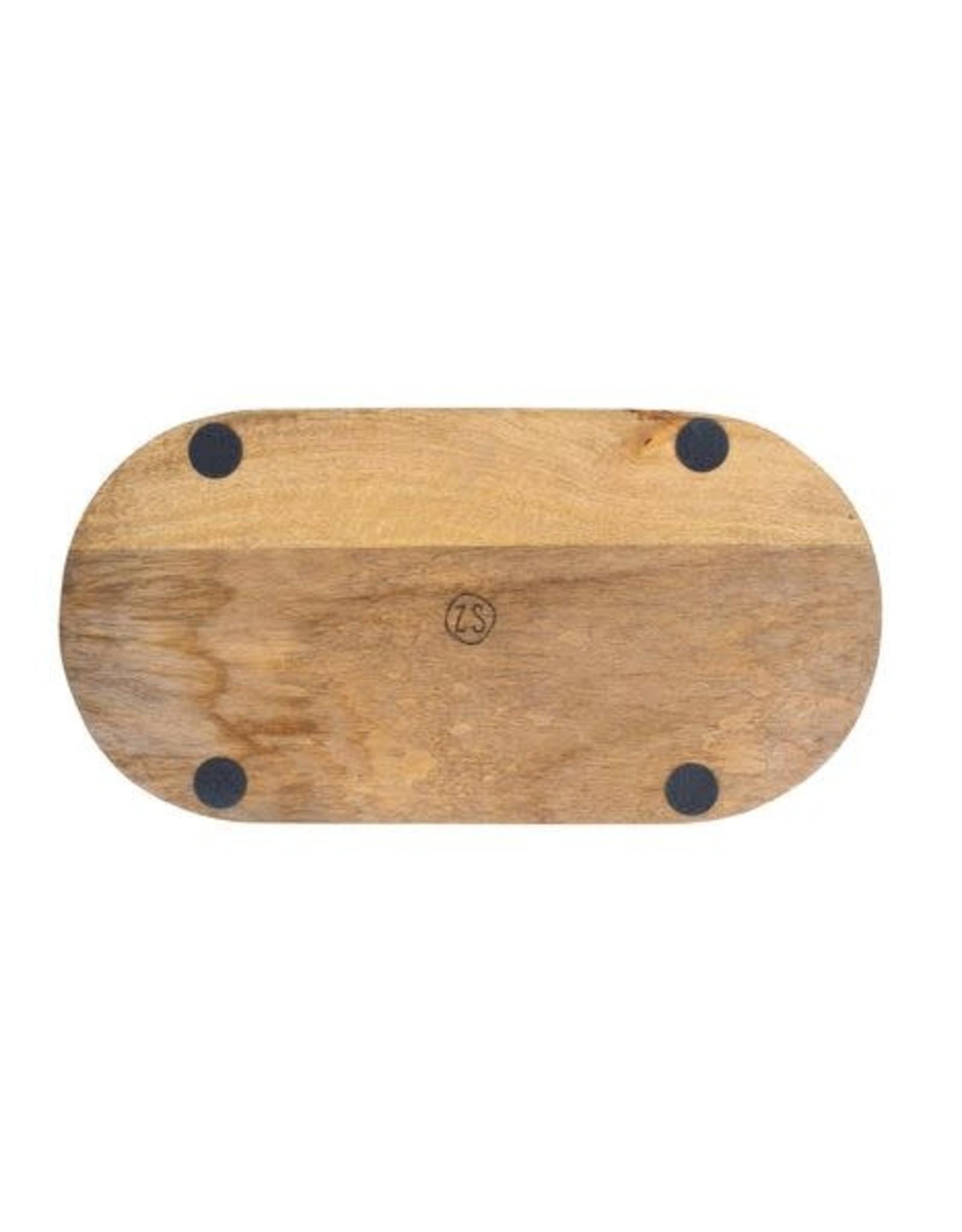 Zusss Zusss - Houten dienblad - Ovaal - 40cm