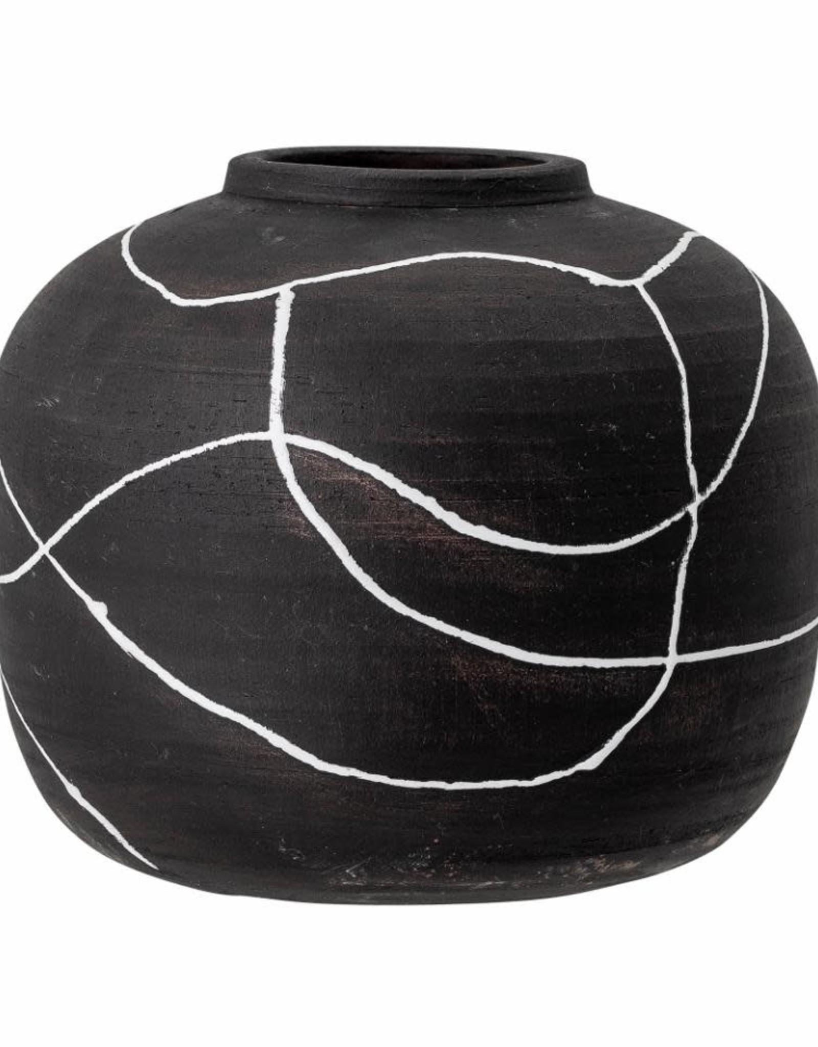 Bloomingville Bloomingville - Niza vase, black, Terracota