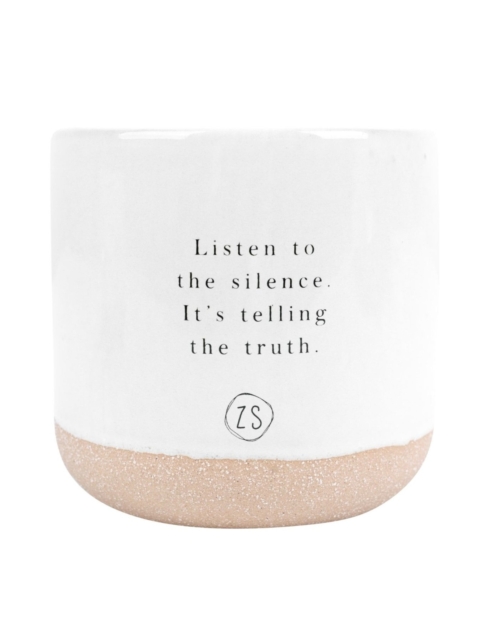 Zusss Zusss - Keramieken geurkaars met listen to the silence