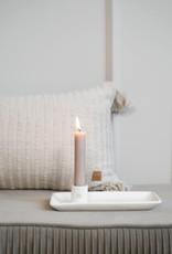 Zusss Zusss - Kandelaar met blad keramiek wit