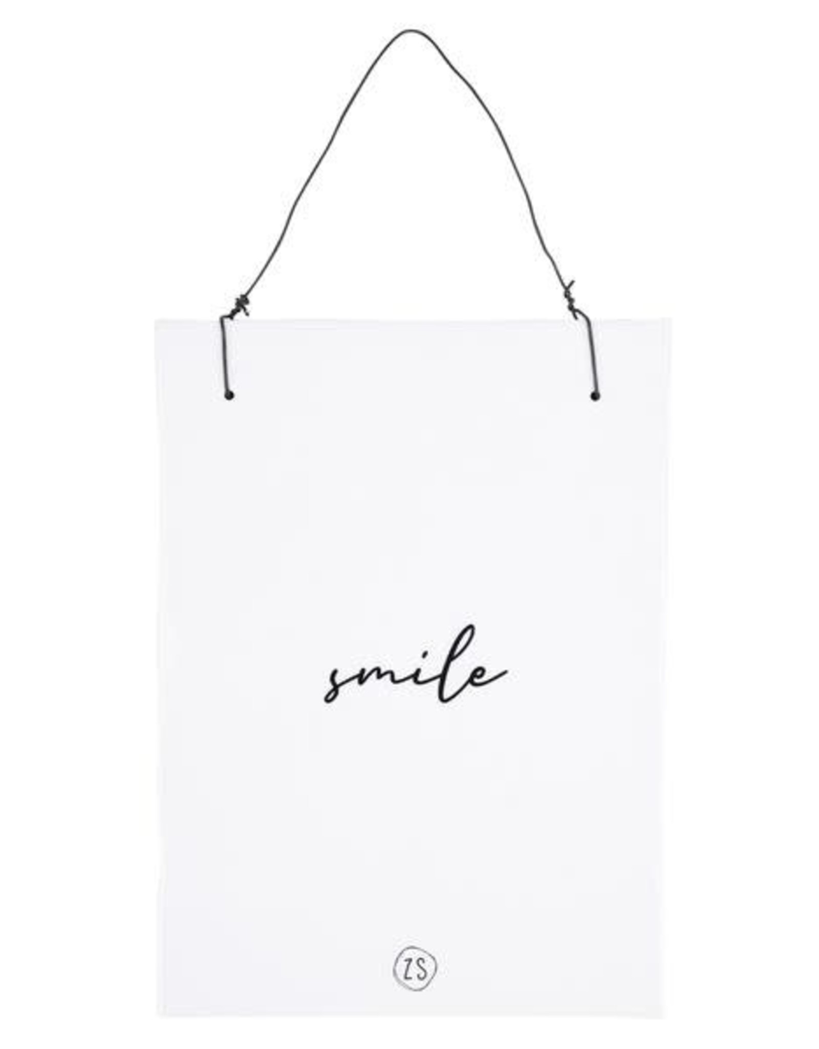 Zusss Zusss - Teksttegeltje smile wit