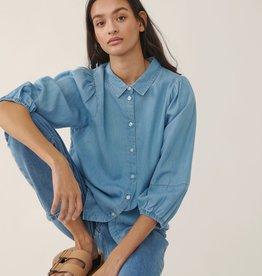 Moss Copenhagen MSCH - Jaina shirt - blue