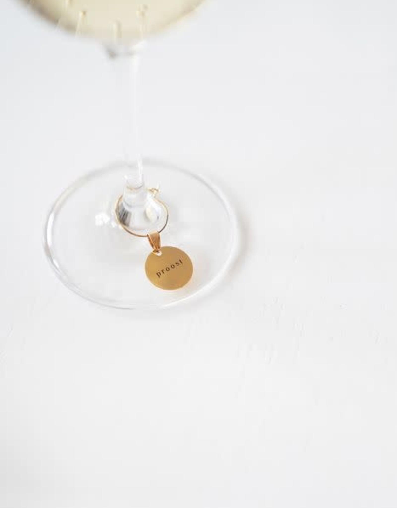 Zusss Zusss - Set van 6 wijnglas hanger metaal