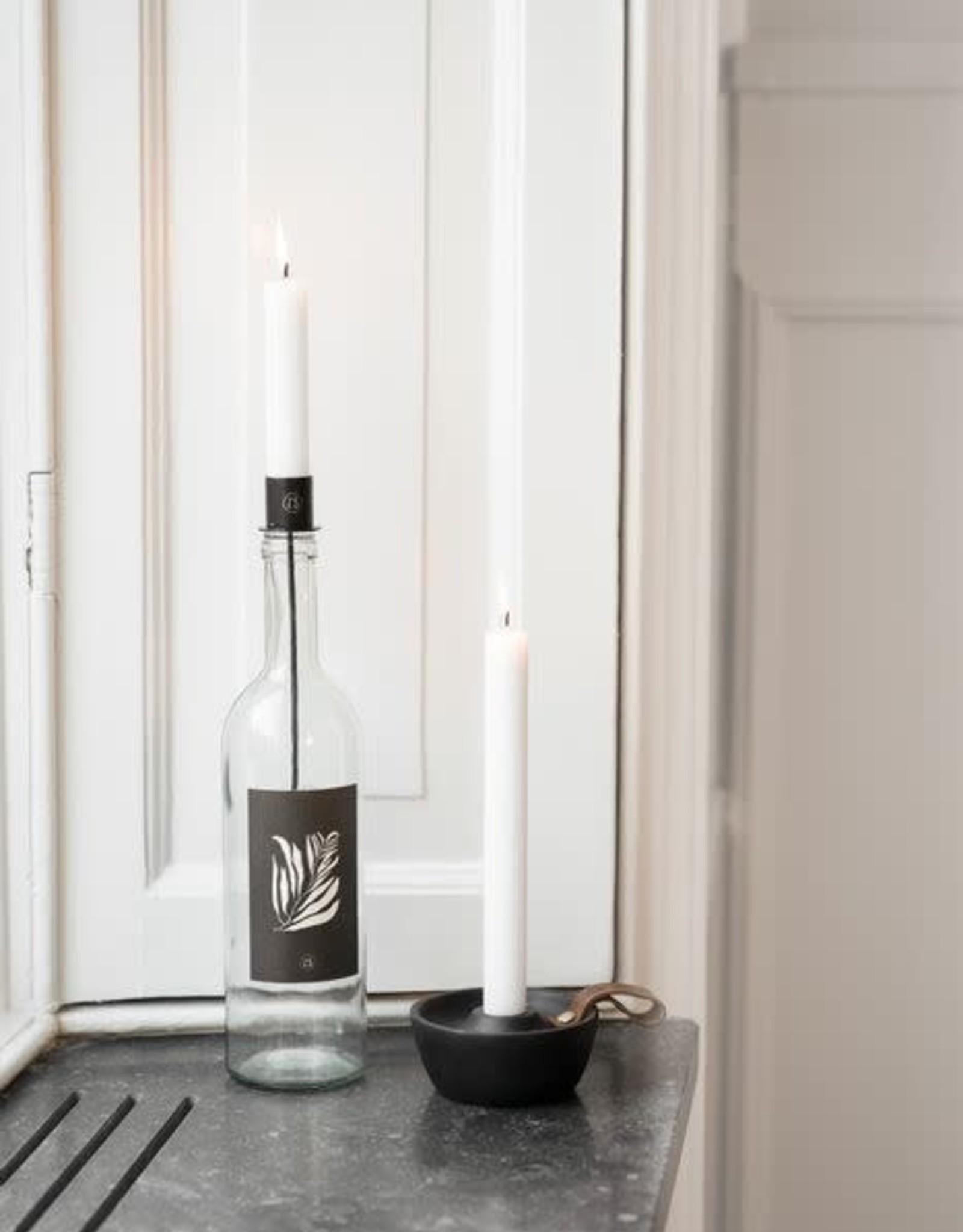 Zusss Zusss - Kaarsenhouder in fles zwart
