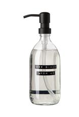 Wellmark Wellmark - Handzeep 500ml - Black helder glas -  Get dirty with me
