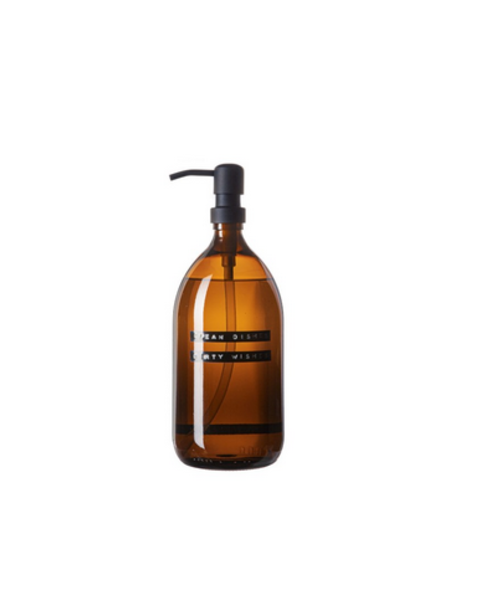 Wellmark Afwasmiddel 1L - Messing bruin glas - clean dishes dirty wishes
