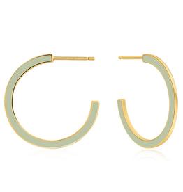 Ania Haie Ania Haie - Sage enamel gold hoop - Earings