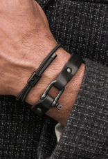 Pig & Hen Pig & Hen - Sharp Simon Leather - Black/Black - M/L(19cm)