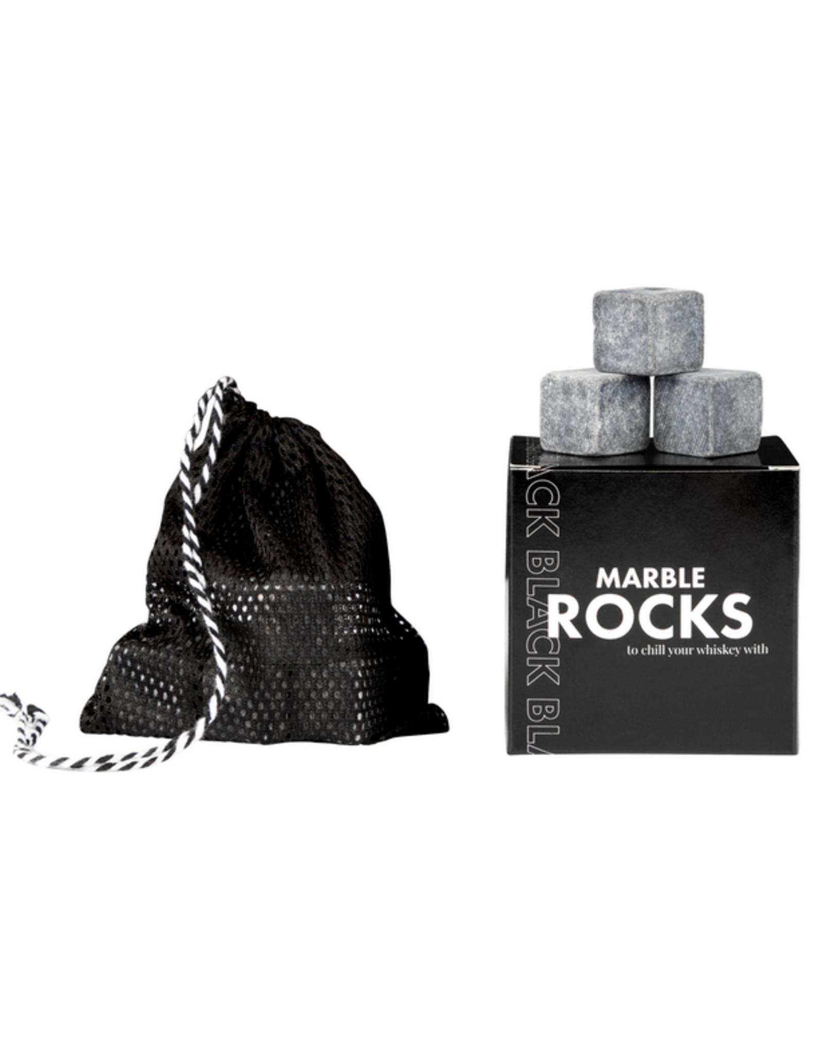 Stoned -Black Marble Rocks