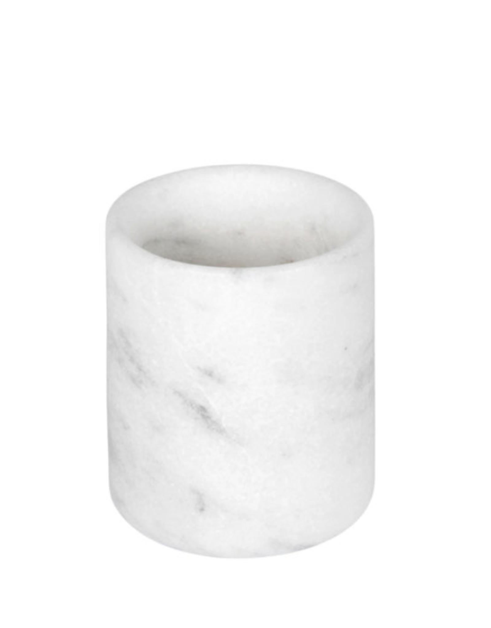 Stoned - White Marble -Toothbrush Holder