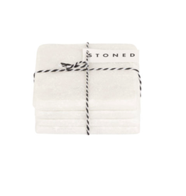 Stoned - White Marble - Square Coasters