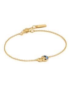 Ania Haie Ania Haie - Tidal abalone crescent  link bracelet - gold