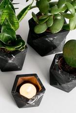 House Raccoon House Raccoon - Vand Tealight holder - Black marble