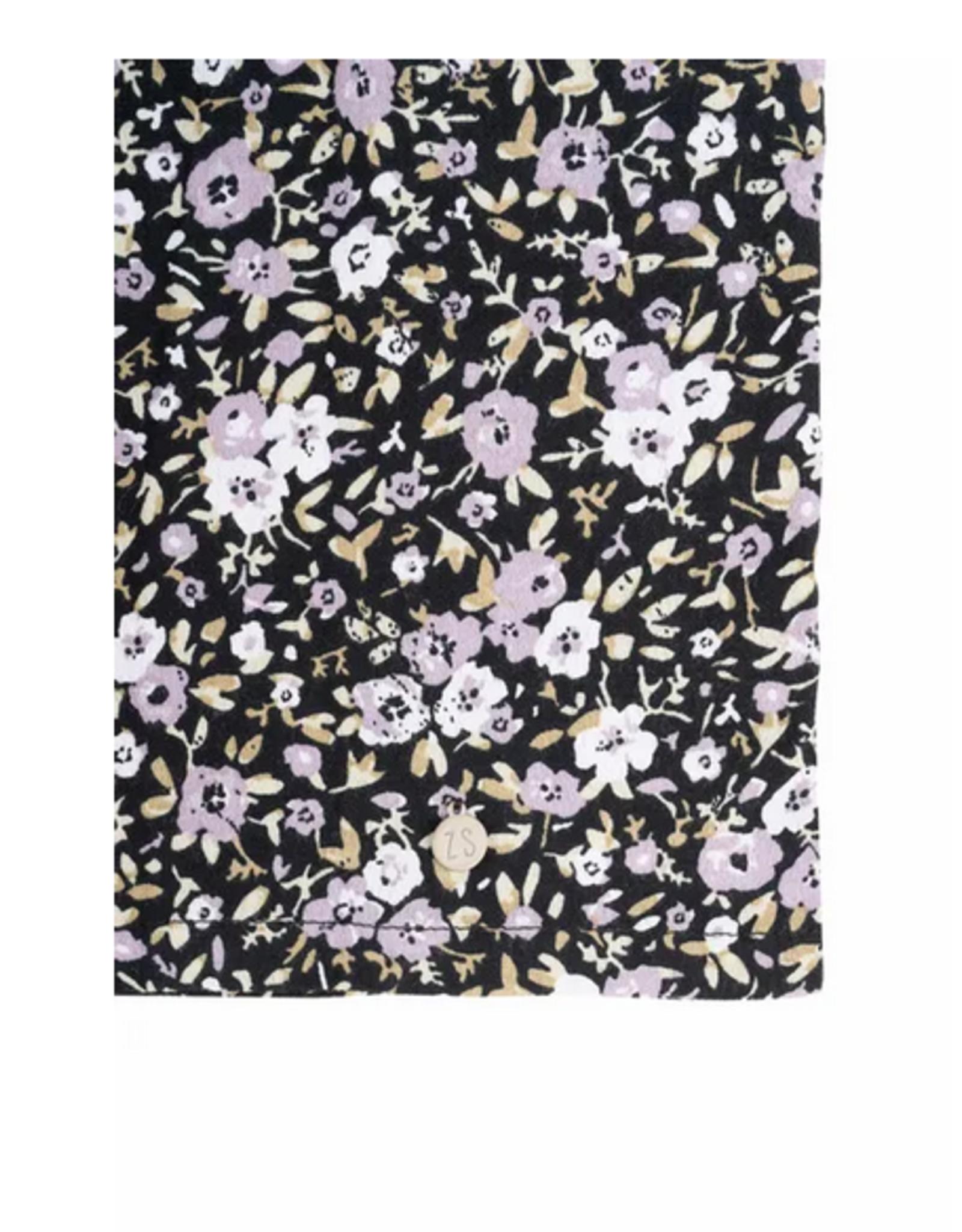 Zusss Zusss - Lange strokenjurk bloemenprint