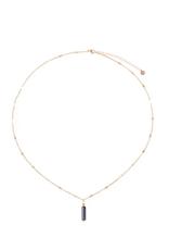 Zusss Zusss - ketting met obsidiaan hangertje goud