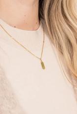 Zusss Zusss - ketting met chloriet hangertje goud