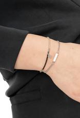 Zusss - fijn kralenarmbandje -lila/zilver