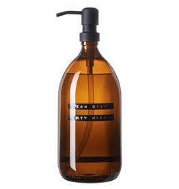Wellmark Afwasmiddel 1L - black-bruin glas - clean dishes dirty wishes