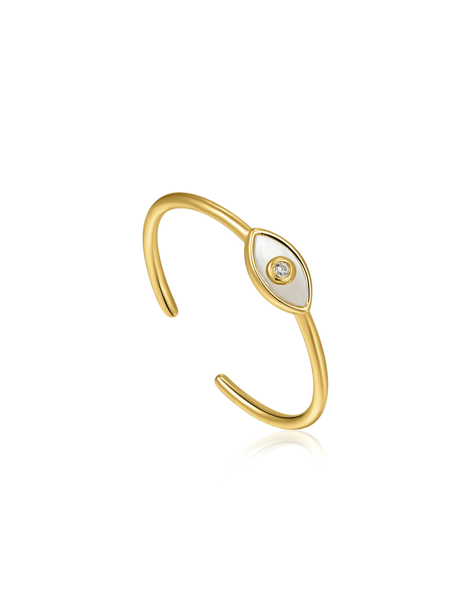 Ania Haie Ania Haie - Evil eye adjust ring gold