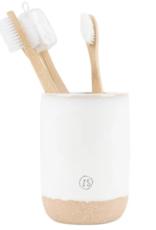 Zusss Zusss - keramieken tandenborstelhouder wit