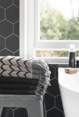 Zusss - badhanddoek - Grafisch patroon - 60x115
