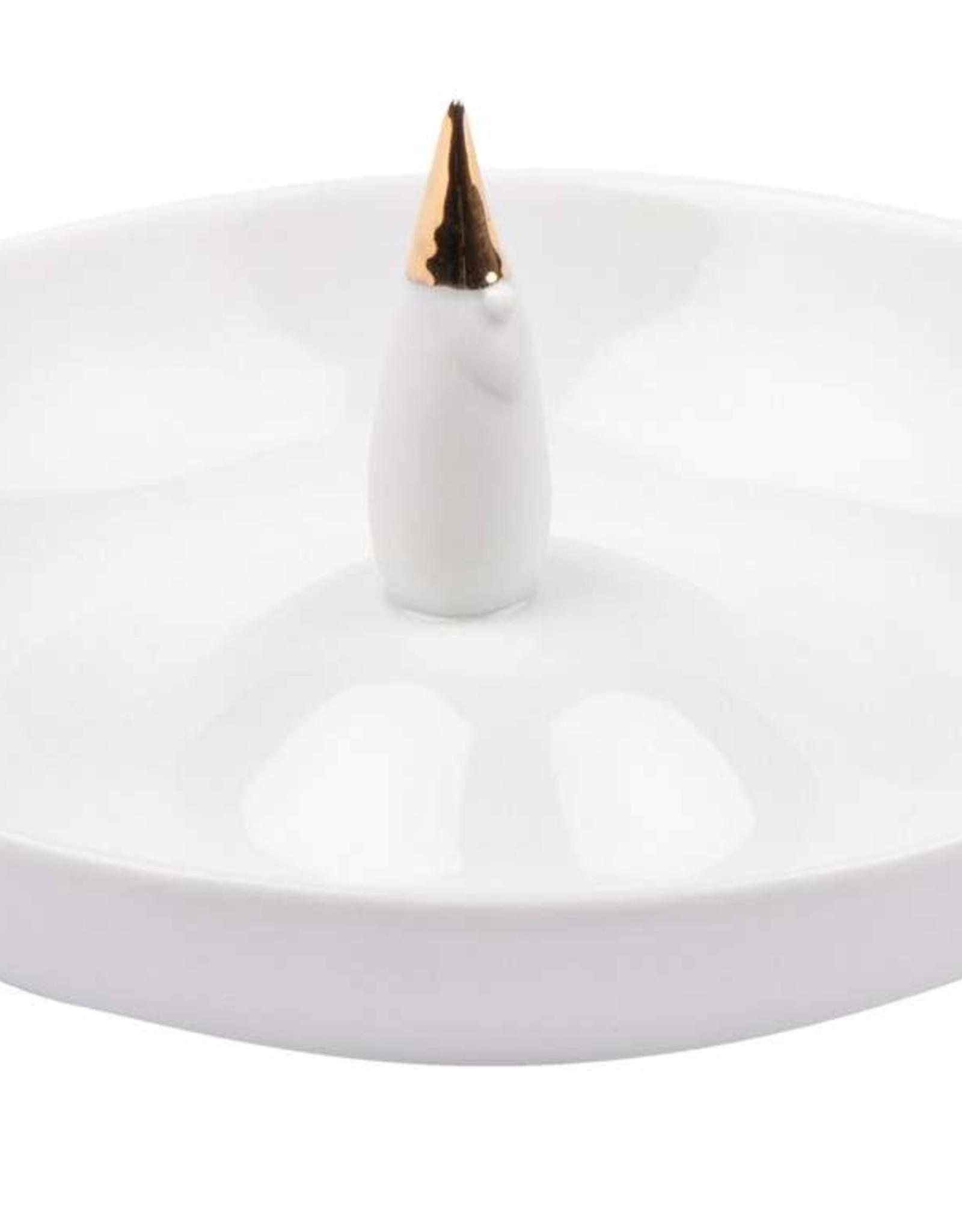 Räder Rader - Porcelain stories small plate gold santa