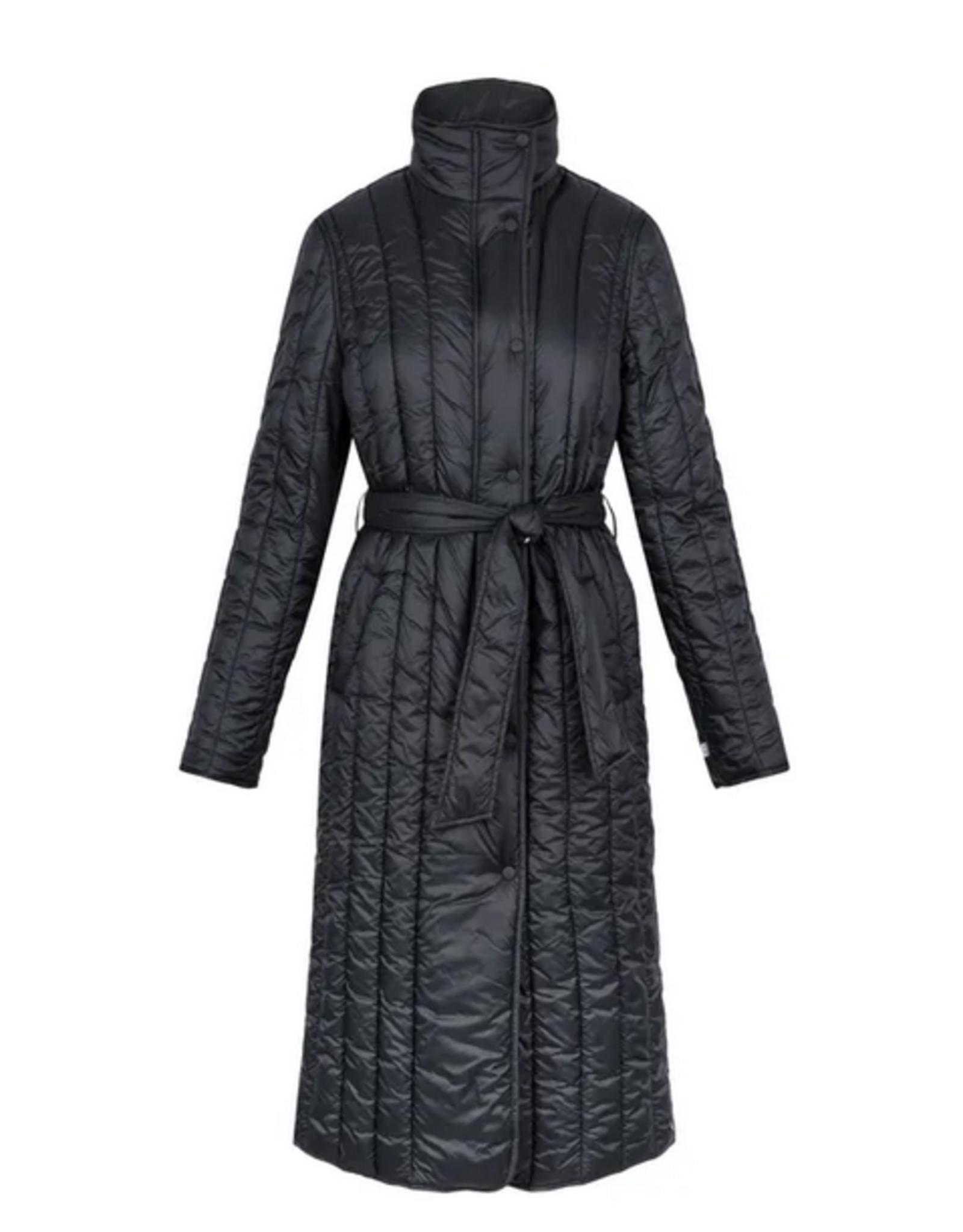 Zusss Zusss - Gewatteerde winterjas - Zwart