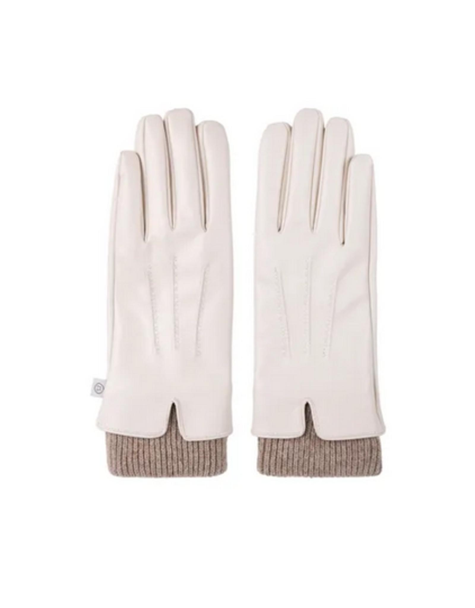 Zusss Zusss - Fijne handschoen - crème